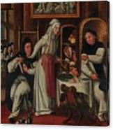 Kitchen In A Convent Canvas Print