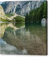 Lago Di Braies Canvas Print
