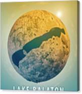 Lake Balaton 3d Little Planet 360-degree Sphere Panorama Canvas Print