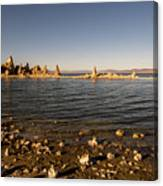 Lakefront And Sunset At Mono Lake, Eastern Sierra, California, U Canvas Print