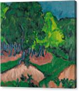 Landscape With Chestnut Tree Canvas Print