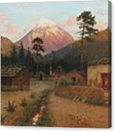 Landscape With Volcano Canvas Print