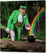 Leprechaun With Pot Of Gold Canvas Print