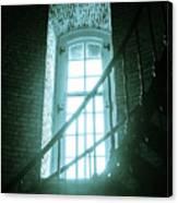 Light Through The Currituck Window - Text Canvas Print