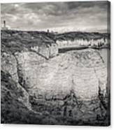 Lighthouse And Cliffs Canvas Print