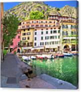 Limone Sul Garda Turquoise Harbor Panoramic View Canvas Print