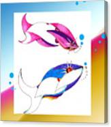 2 Little Fish Canvas Print