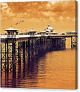 Llandudno Pier North Wales Uk Canvas Print