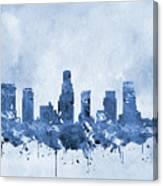 Los Angeles Skyline-blue Canvas Print