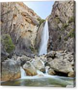 Lower Yosemite Fall In The Famous Yosemite Canvas Print