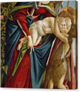 Madonna And Child And The Young St John The Baptist Canvas Print