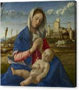 Madonna Of The Meadow Canvas Print