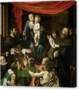 Madonna Of The Rosary Canvas Print