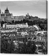 Madrid Panorama From Debod Lookout Madrid Spain Canvas Print