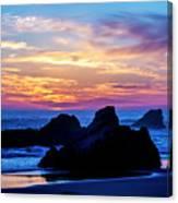 Magical Sunset - Harris Beach - Oregon Canvas Print