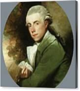 Man In A Green Coat Canvas Print