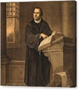 Martin Luther, German Theologian Canvas Print