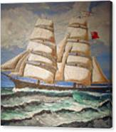 2 Master Tall Ship Canvas Print