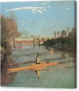 Max Schmitt In A Single Scull Canvas Print