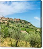 Medieval Town Of San Gimignano, Tuscany, Italy Canvas Print