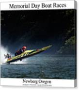 Memorial Day Boat Races Canvas Print