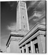 Memorial Tower - Lsu Bw Canvas Print