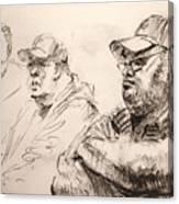 Men At Cafe Canvas Print