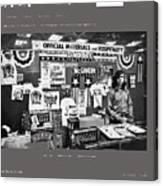 Merchandise George Mcgovern For President Democratic Nat'l Convention Miami Beach Florida 1972 Canvas Print
