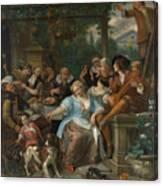 Merry Company On A Terrace Canvas Print