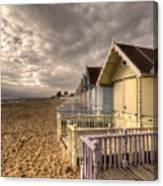 Mersea Island Beach Huts Canvas Print