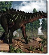 Miragaia Dinosaur - 3d Render Canvas Print