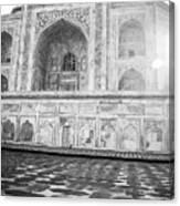 Monochrome Taj Mahal - Sunrise Canvas Print