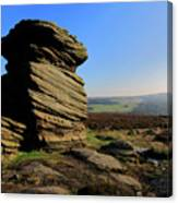 Mother Cap Gritstone Rock Formation, Millstone Edge Canvas Print
