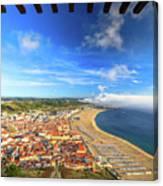 Nazare Portugal Skyline Canvas Print
