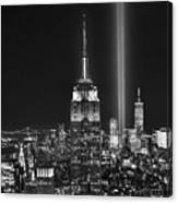 New York City Tribute In Lights Empire State Building Manhattan At Night Nyc Canvas Print