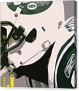 New York Jets Football Team And Original Typography Canvas Print