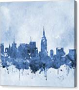 New York Skyline-blue Canvas Print