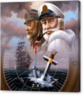 News Two Map Captain Or Two Sea Captain Canvas Print