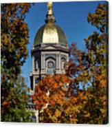 Notre Dame's Golden Dome Canvas Print