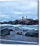 Nubble Light Lighthouse Canvas Print