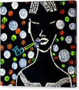 Nuer Lady With Pipe - South Sudan Canvas Print