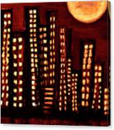 Wild L.a Moon Canvas Print