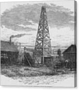 Oil Well, 19th Century Canvas Print