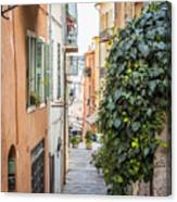 Old Street In Villefranche-sur-mer Canvas Print