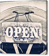 Open Sign Canvas Print