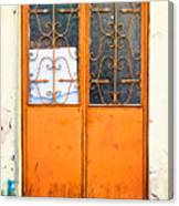 Orange Door Canvas Print