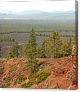 Oregon Landscape - View From Lava Butte Canvas Print