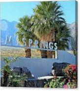 Palm Springs Welcome Canvas Print