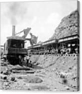 Panama Canal - Construction - C 1910 Canvas Print