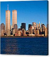 Panoramic View Of Lower Manhattan Canvas Print